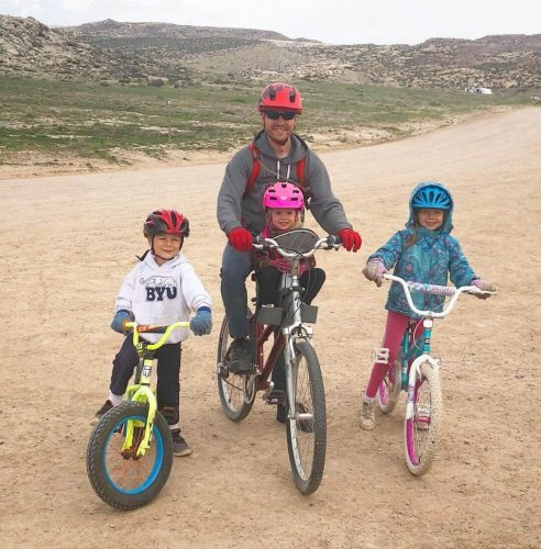 bikign with kids near arches national park