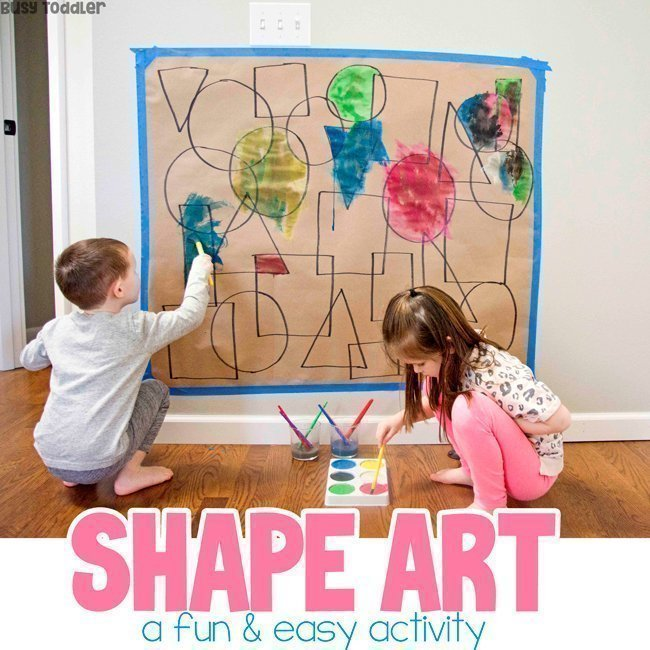 Shape Art Activity for Toddlers and Preschoolers