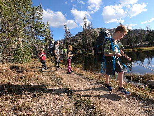 Hiking Uintah Mountains with kids