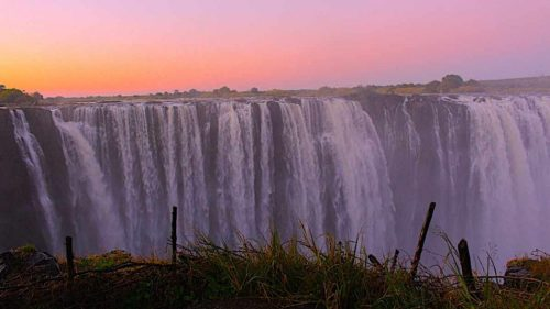 Victoria Falls with teens