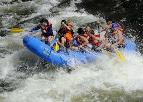 whitewater rafting with teens