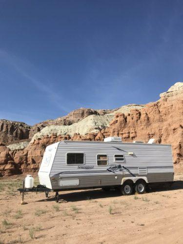 averett rv trailer in goblin valley