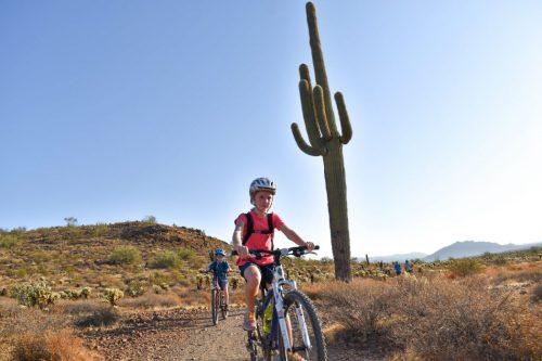 mountain biking apache wash arizona with kids