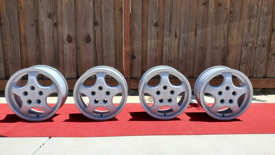 "No Reserve: 1992 Porsche 17x7"" and 17x8"" Cup 1 Wheels"