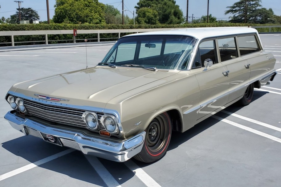 No Reserve: 1963 Chevrolet Bel Air 9-Passenger Station Wagon
