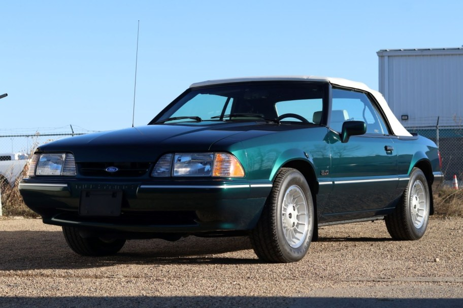 860-Mile 1990 Ford Mustang LX 5.0 Convertible 7-Up Edition 5-Speed