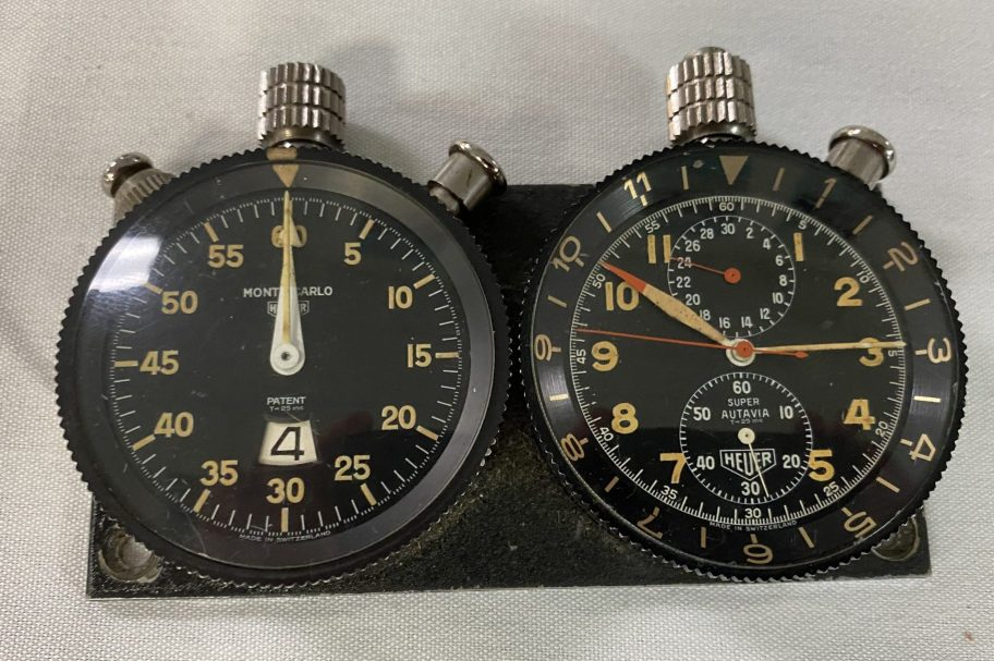 No Reserve: Heuer Monte Carlo and Super Autavia Dash Timers