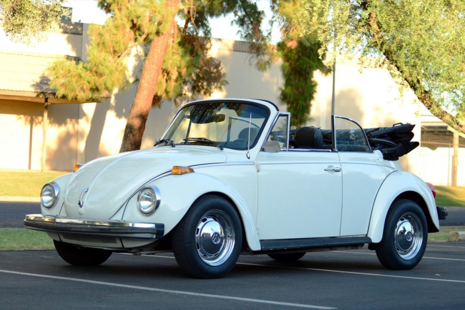1979 Volkswagen Super Beetle Convertible Electric Conversion 4-Speed