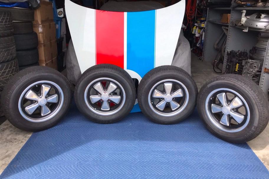 "No Reserve: 1976 15x6"" Fuchs Wheels for Porsche 911"