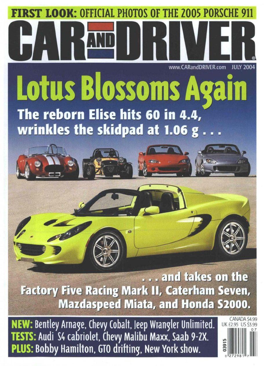 Car And Driver Comparison Test: 2004 Lotus Elise