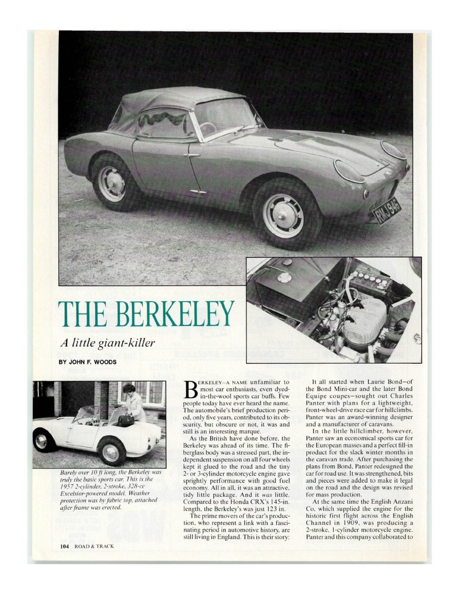 Road & Track Archives: The Little Berkeley That Could