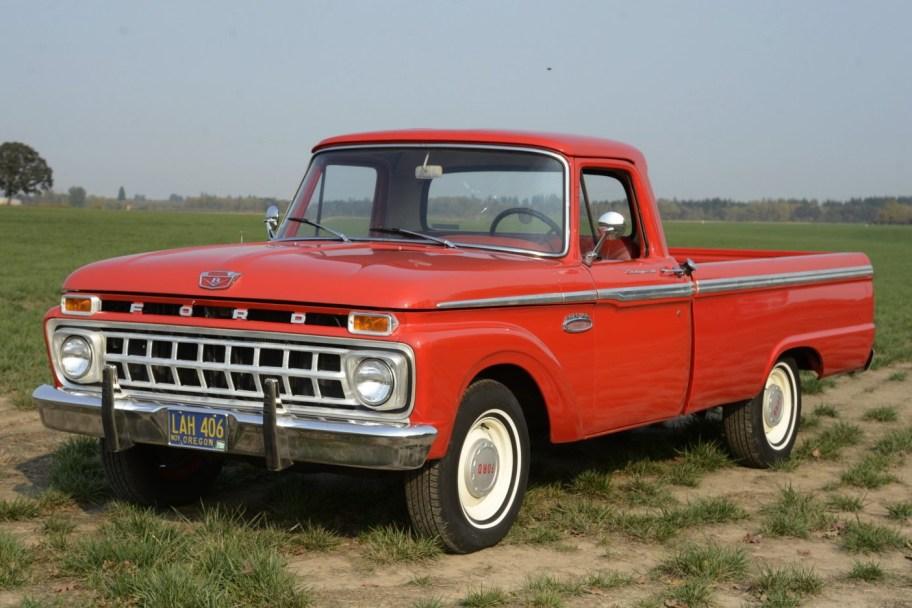 No Reserve: 1965 Ford F-100 Custom Cab 4-Speed