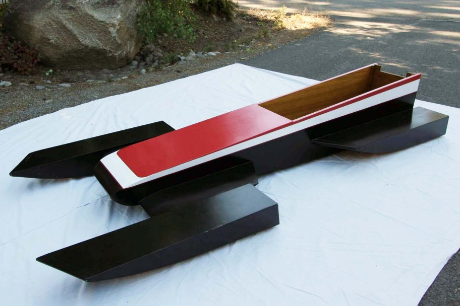 No Reserve: 1980s 10' Wooden Racing Hydroplane