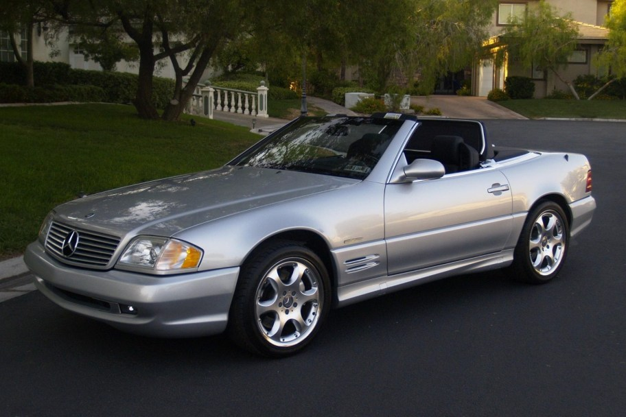 270-Mile 2002 Mercedes-Benz SL600 Silver Arrow