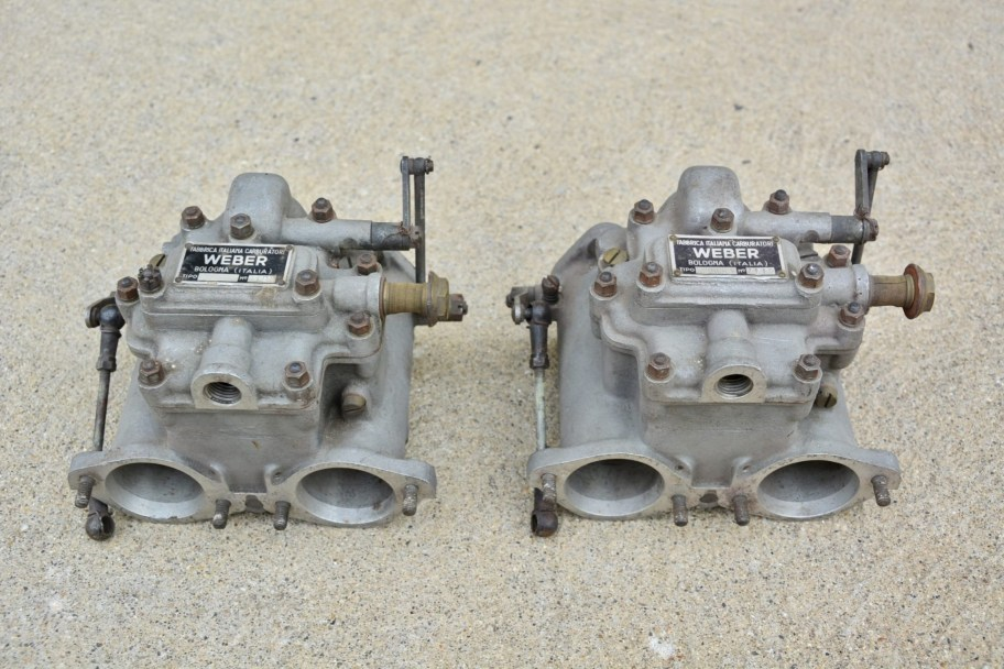 No Reserve: Pair of Weber 40 DCO3 Carburetors