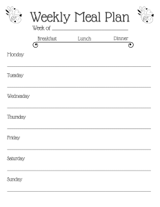 meal planning printable - 10 ways to save money this month