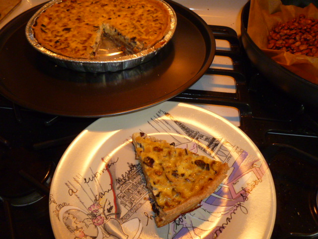 Mouthwatering Mushroom and Onion Quiche and Round Two Rustic Tomato and FetaTart   (1/2)