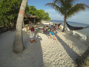 Family travel, kids travel, Utila, Honduras, children, hammock