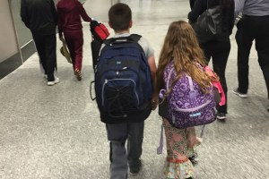 kids travel, family travel, airport navigation