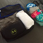 Pacing light, packing cubes, family vacation, family trip, family travel
