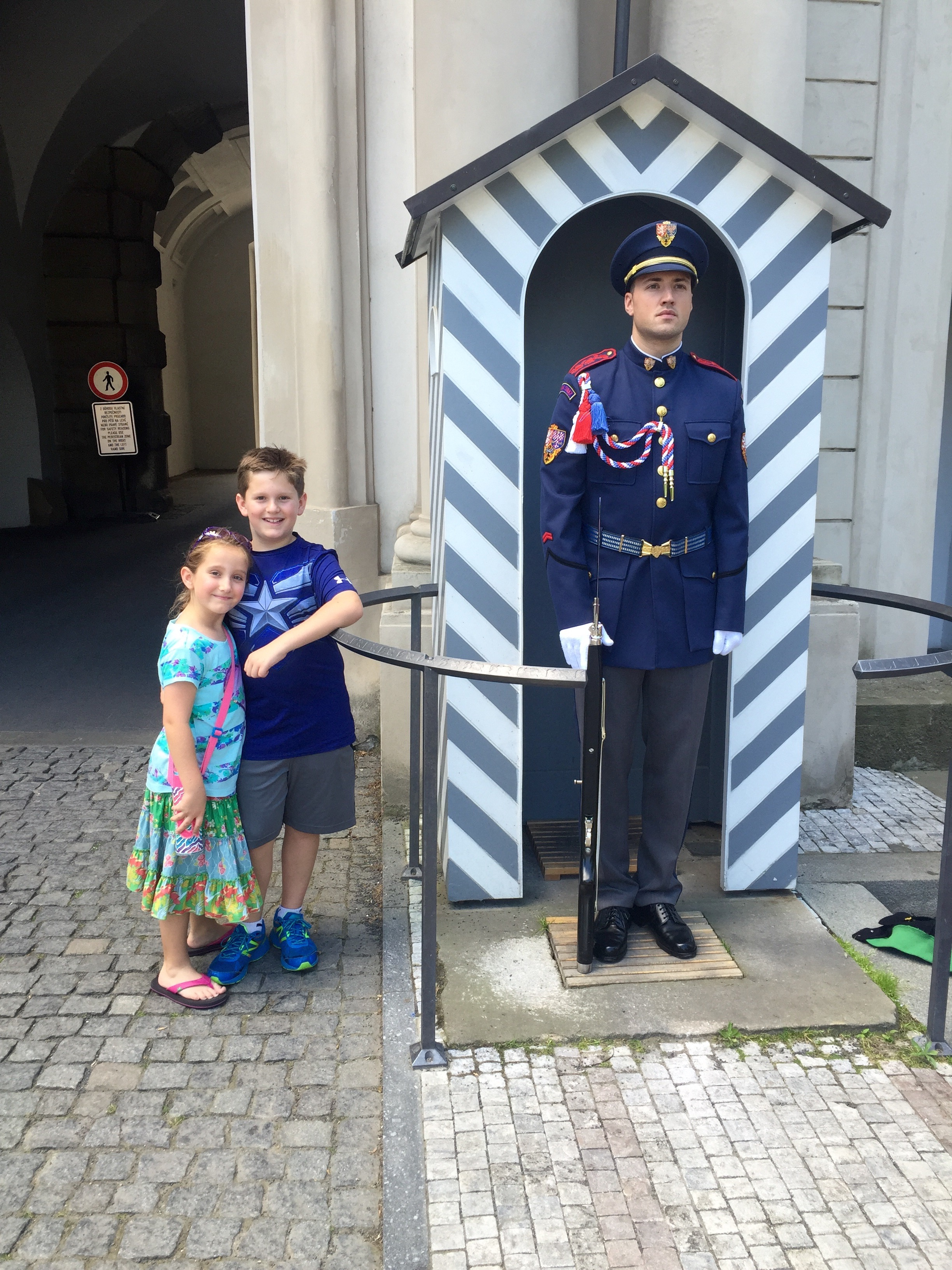 Prague Castle, Family vacation, Prague Castle Changing of the Guard