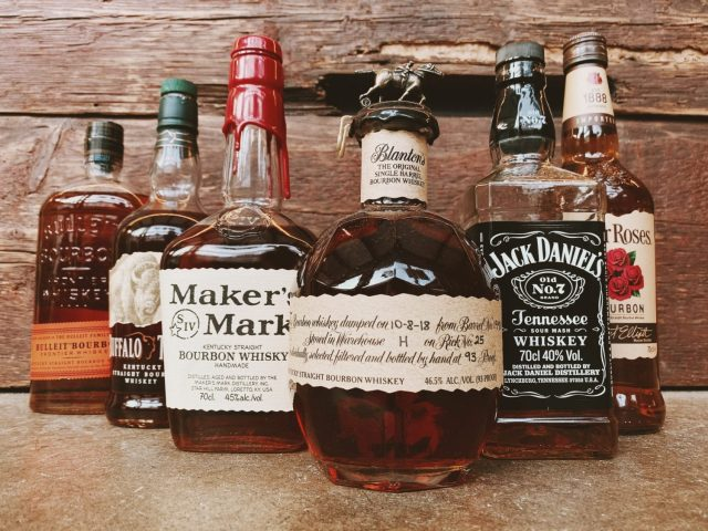 Whisky Bottles in a group