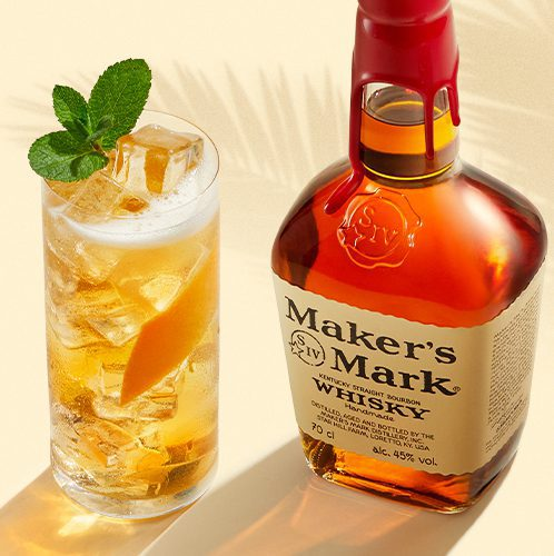 Makers Mark Bourbon Whiskey with a cocktail