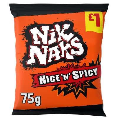 Nik Naks Nice 'n' Spicy flavoured Crisps
