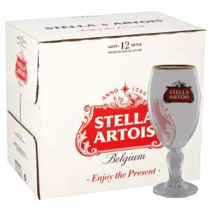 Stella Artois Premium Lager with Free Branded Chalice Glass