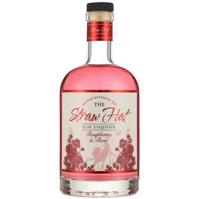 The Straw Hat Raspberry & Rose Gin Liqueur 70cl