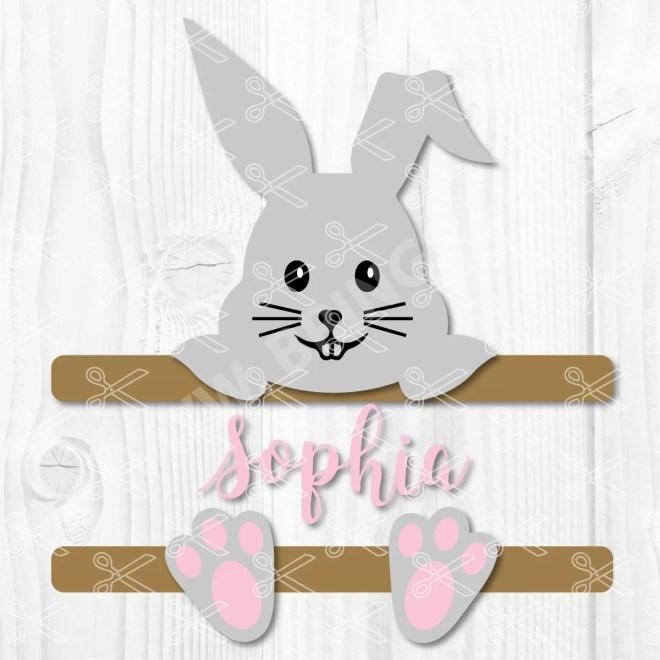 Easter Split Monogram Svg