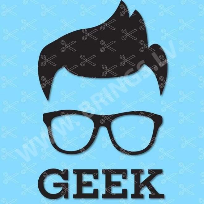 Geek Nerd SVG DXF PNG Cut File