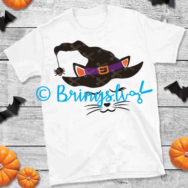 Witch Cat Halloween SVG