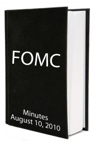 FOMC August 2010 Minutes