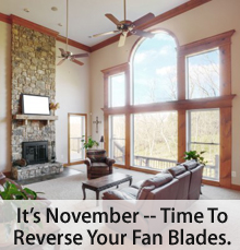 Ceiling fans for all 4 seasons