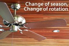 Ceiling fan rotation