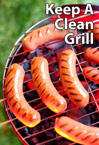 How to keep a clean grill