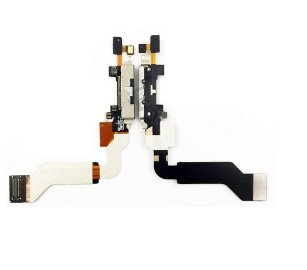 New Dock Connector Charging Port Flex Cable for iPhone 4s Charger Flex Cables Replacement parts 10pcs