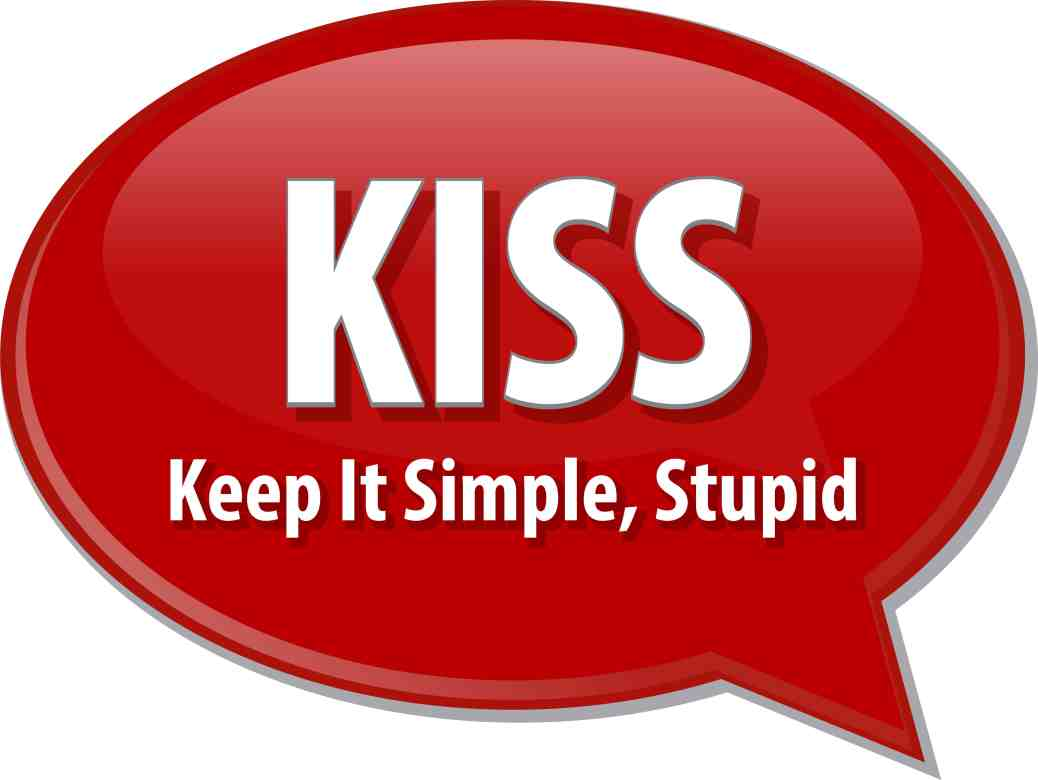 word speech bubble illustration of business acronym term KISS