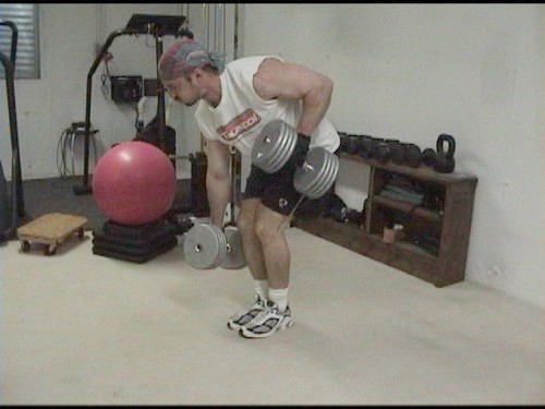 Alternating Dumbell Rows 1