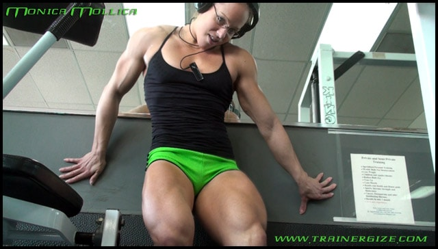 Monica-MollIca-trainergize-green-shorts