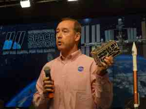 That object in his hand is a Micro-Sat!