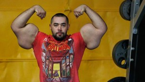 man with synthol arms