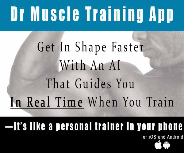 Dr. Muscle Training app. Get in Shape with AI that guides you in real time when you train
