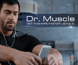 Dr. Muscle App button