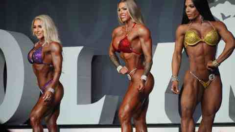 Top three women from the wellness division
