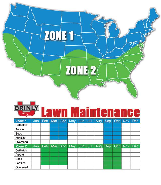 seasonal lawn care map - Lawn Maintenance Schedule