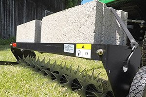 "SAT 40BH feature 2 1 - 40"" Spike Aerator with Wheels <span>