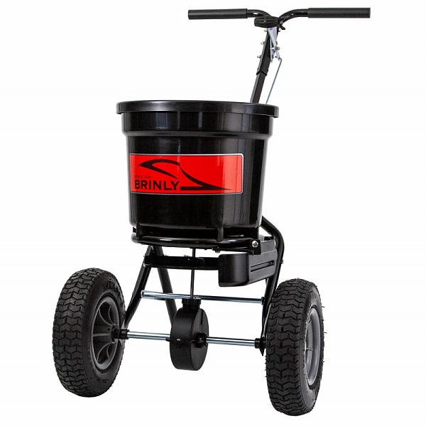 spreaderwithdeflectorbrinly - 50 lb. Push Spreader with Deflector Kit   P20-500BHDF