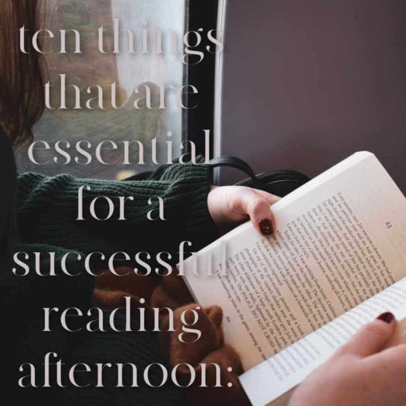 Ten things for a successful reading afternoon